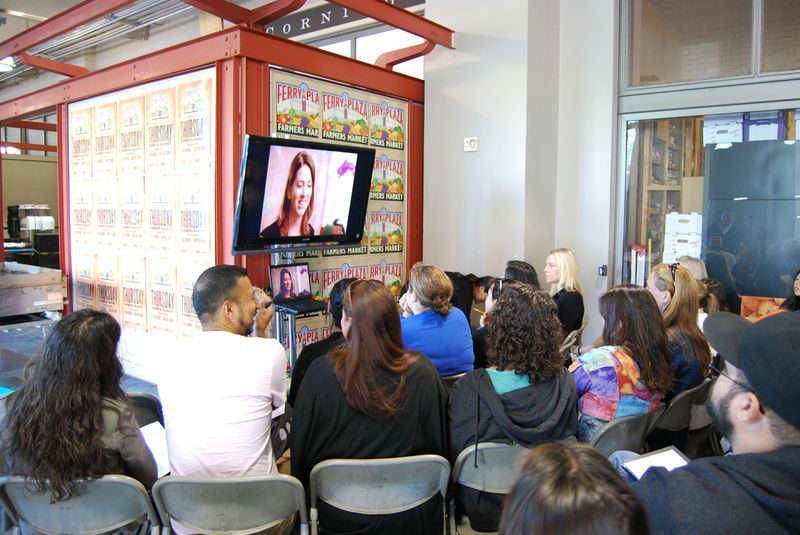 Teachers watch Nourish at the Ferry Building